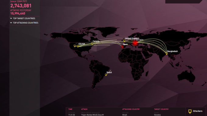 Live Cyber Attack Threat Map