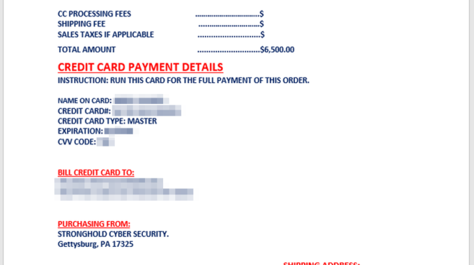 The Art Of The Scam – Credit Card Scam, That Is