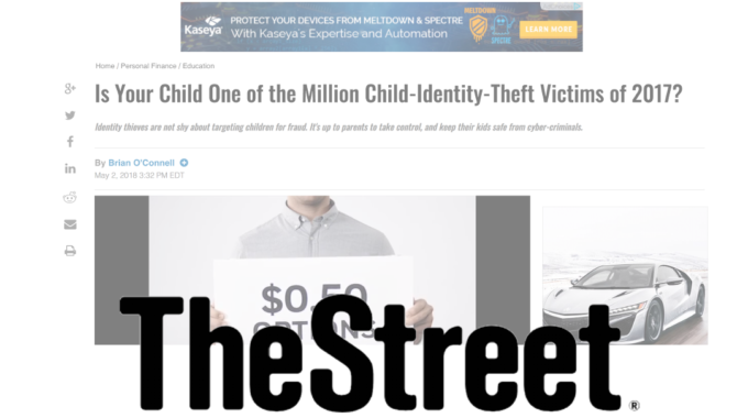 Stronghold Cyber Security CEO Commentary Featured In TheStreet's Article On Child Identity Theft